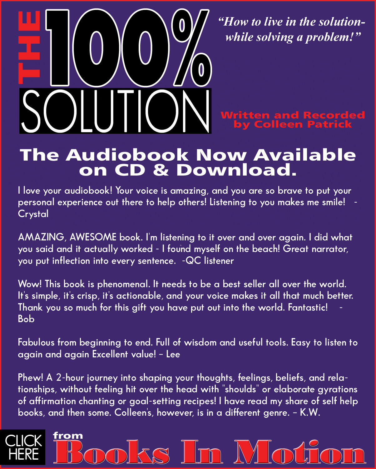 The 100% Solution cover